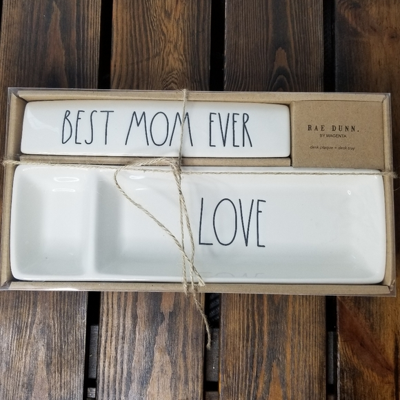 Rae Dunn Mother's Day Plaque and Desk Tray